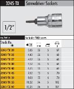 1/2 inch drive torx bit specifications
