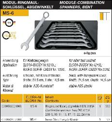 Specifications for Elora Metric Wrench Set